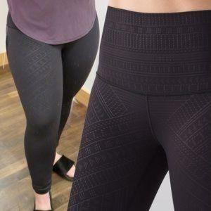 lululemon athletica Pants & Jumpsuits - Rare lululemon embossed High rise wunder under